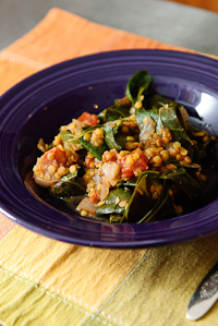 Collards, Lentils and Indian Spices