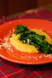 Polenta and Broccoli Rabe