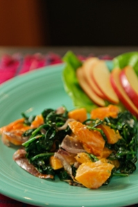 Squash with Spinach