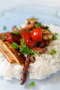 Glazed Carrot Tomato Ragout