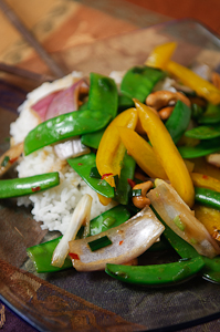 Sugar Snap and Snow Pea Stir Fry
