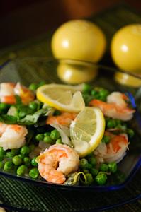Basil Shrimp and Peas